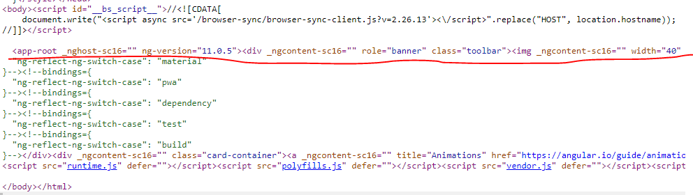 check page view source in browser after implement angular universal